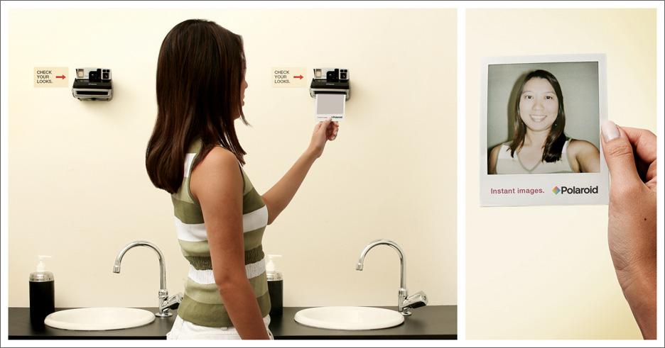 Polaroids en vez de espejos, por qué no hacen estas cosas en España?